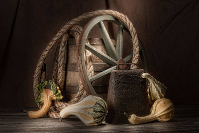 Wagon Wheels Photograph - Rustic Still Life by Tom Mc Nemar