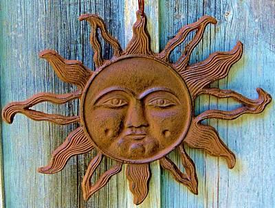 Rustic Sunface Art Print