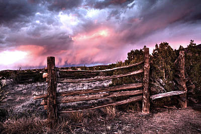 Photograph - Rustic Sunset by Howard Holley