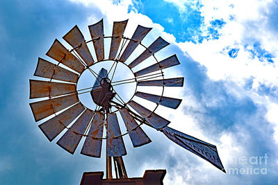 Photograph - Rustic Texas Windmill by Ray Shrewsberry