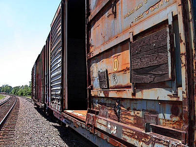 Photograph - Rustic Train by Anne Cameron Cutri