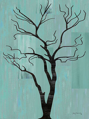 Scenic Montana Mixed Media - Rustic Tree Art by Ken Figurski