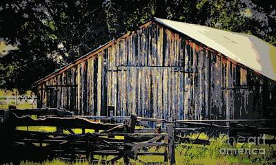 Photograph - Rustic Vintage Barn Color Poster by Bobbee Rickard