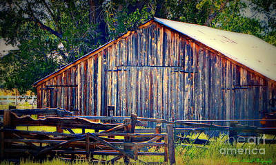 Photograph - Rustic Vintage Barn In Color by Bobbee Rickard