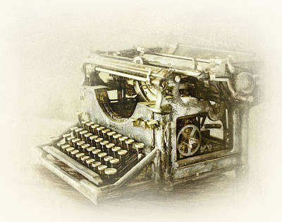 Photograph - Rustic Vintage Typewriter by David and Carol Kelly