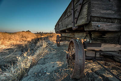 Hay Wagon Photograph - Rustic Wagon by Michael Dugger