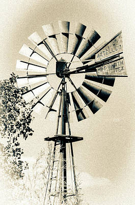 Photograph - Rustic Windpump by Erich Grant