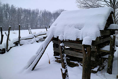 Photograph - Rustic Winter Setting by Scott Kingery