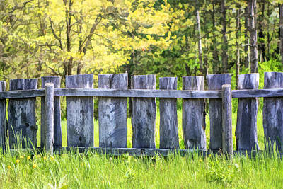Rural Life Painting - Rustic Wooden Fence At Old World Wisconsin by Christopher Arndt