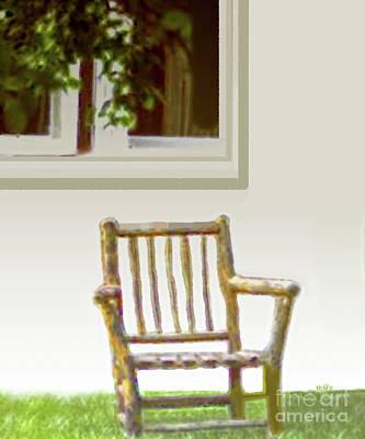 Rustic Wooden Rocking Chair Art Print
