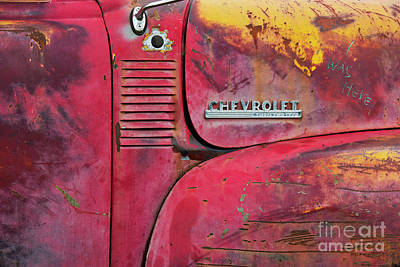 Vintage Chevrolet Truck Photograph - Rustified And Ancient by Tim Gainey