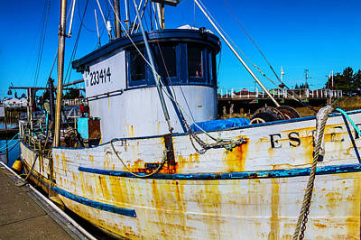 Rusting Boat Dockside Art Print