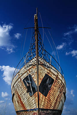 Rusting Boat Print by Stelios Kleanthous