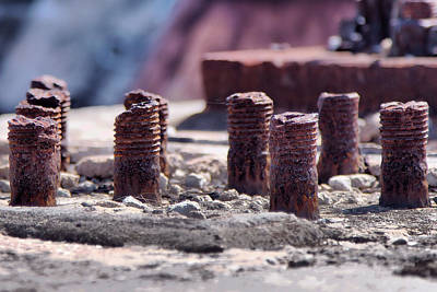 Photograph - Rusting Bolts by Gordon Elwell