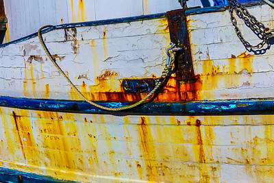 Rusting Fishing Boat Detail Art Print