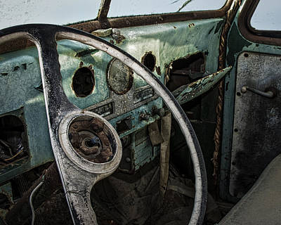 Photograph - Rusting Green Pickup Truck by Phil Cardamone