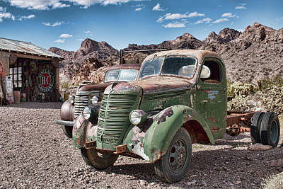 Photograph - Rusting In The Desert by Kristia Adams