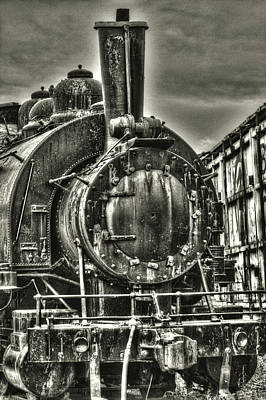 Photograph - Rusting Locomotive by Roger Passman