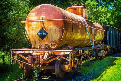 Rusting Oil Tanker Car Art Print by Garry Gay