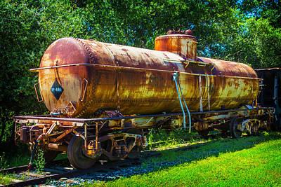 Rusting Oil Tanker Car Jamestown Art Print by Garry Gay