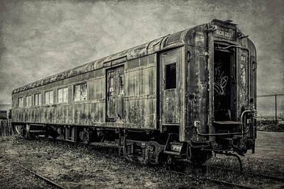 Rusting Passenger Car Ft Bragg Art Print