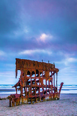 Rusting Peter Iredale Art Print by Garry Gay