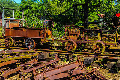 Rusting Railway Cars Art Print by Garry Gay
