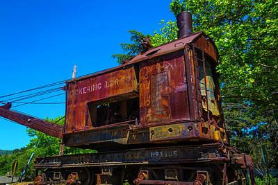 Rusting Train Crane Art Print by Garry Gay