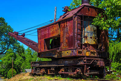 Rusting Train Crane Jamestown Art Print by Garry Gay