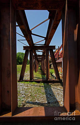 Photograph - Rusting Trestle-signed-#1350 by J L Woody Wooden