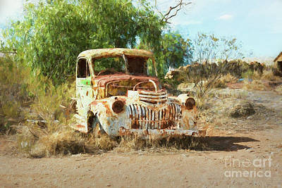 Photograph - Rusting Truck 1 by Stuart Row