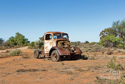 Photograph - Rusting Truck 3 by Stuart Row