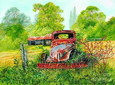 Rusting Art Print by Val Stokes