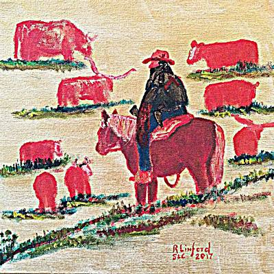 Painting - Rustler 1 by Richard W Linford