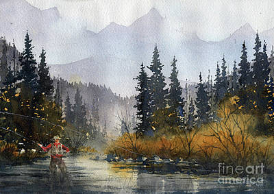 Painting - Rustons River by Tim Oliver