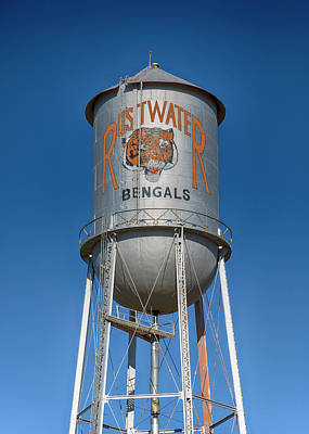 Rustwater Bengals Water Tower Art Print by Stephen Stookey