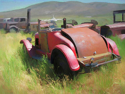 Digital Art - Rusty 1926 Chevy Cabriolet And Friends by David King