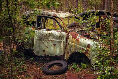 Photograph - Rusty Abandoned Car by Sophie McAulay