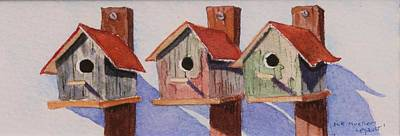 Painting - Rusty Abodes by Mary Ellen Mueller Legault