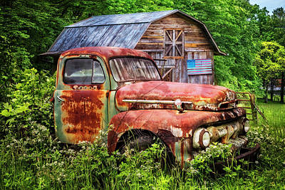 Photograph - Rusty American Ford  by Debra and Dave Vanderlaan