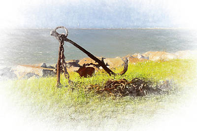 Photograph - Rusty Anchor by Bill Barber