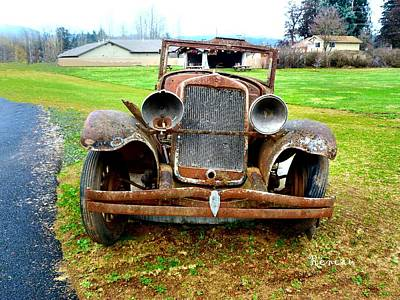 Photograph - Rusty Antique Auto 2 by Sadie Reneau