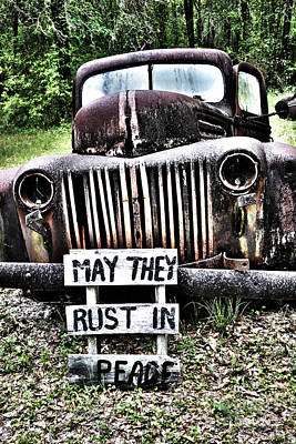 Photograph - Rusty Antique by Janice Spivey