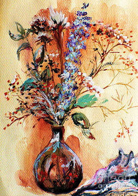 Painting - Rusty Arrangement by Linda Shackelford