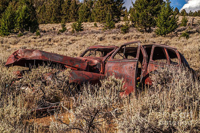 Photograph - Rusty Automobile by Sue Smith