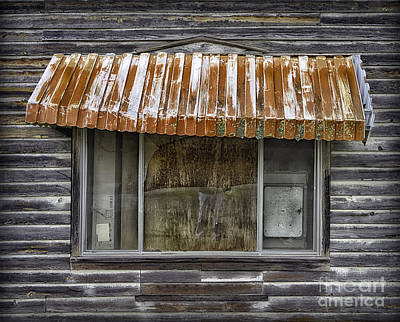 Photograph - Rusty Window Awning by Walt Foegelle