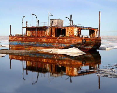 Rusty Barge Art Print by Anthony Jones