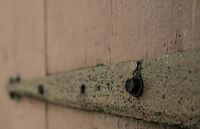 Photograph - Rusty Barn Door Hinge by Kyle Lee