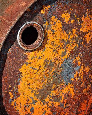 Photograph - Rusty Barrel Top by Stuart Litoff