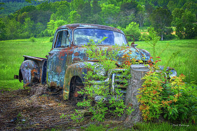 Photograph - Rusty Beauty 1954 Gmc Pickup Truck Wears Valley Gmc Truck Art by Reid Callaway